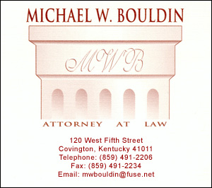 Michael Bouldin - Northern Kentucky Personal Injury Lawyer